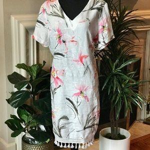 NWT floral linen dress